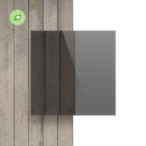 Green Cast gerecycled plexiglas getint grijs voorkant