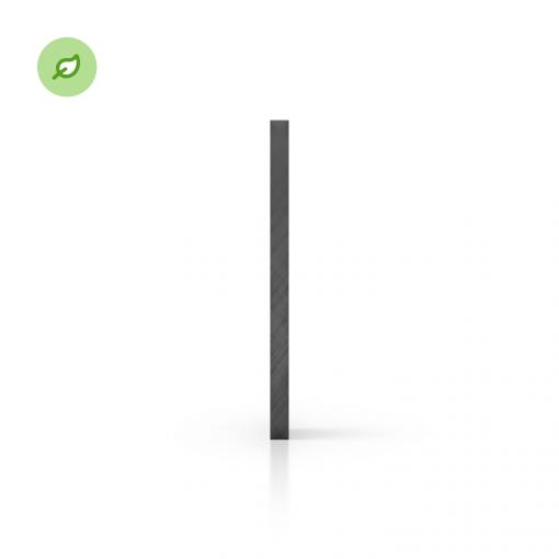 Green Cast gerecycled plexiglas getint grijs zijkant