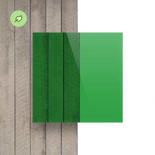 Green Cast gerecycled plexiglas getint groen voorkant