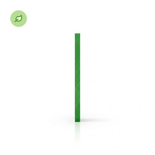 Green Cast gerecycled plexiglas getint groen zijkant