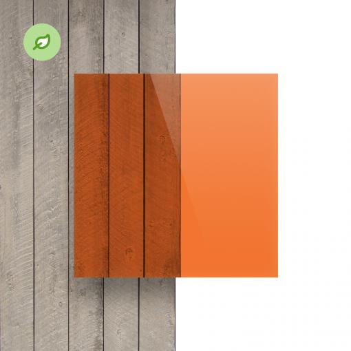 Green Cast gerecycled plexiglas getint oranje voorkant