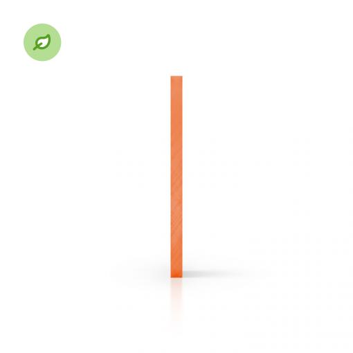 Green Cast gerecycled plexiglas getint oranje zijkant