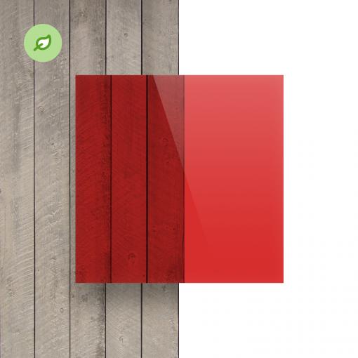 Green Cast gerecycled plexiglas getint rood voorkant
