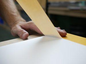 Tapijttape plakken op pvc plaat