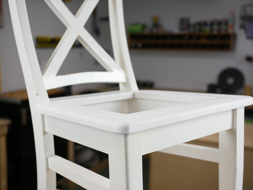 stoel zonder stoelzitting