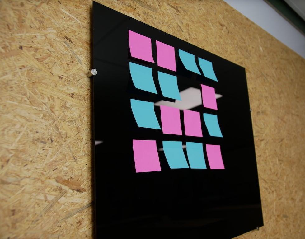DIY memobord van kunststof
