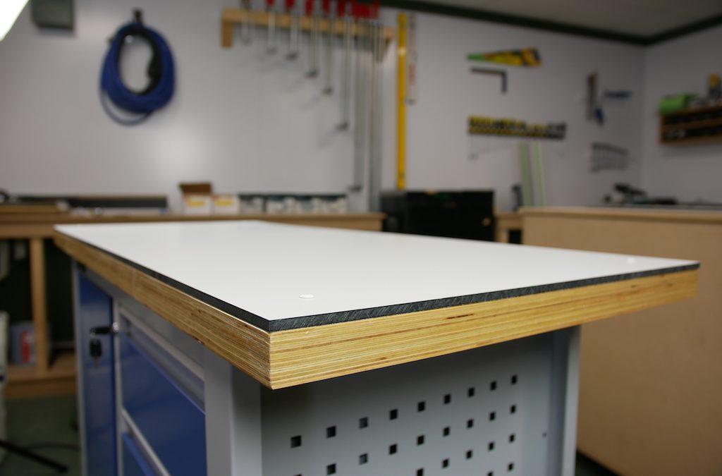 DIY: HPL werkblad voor je werkbank maken