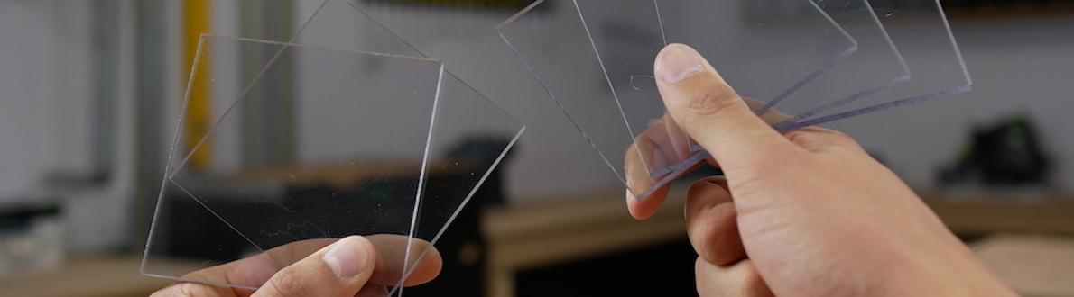 Plexiglas of polycarbonaat banner