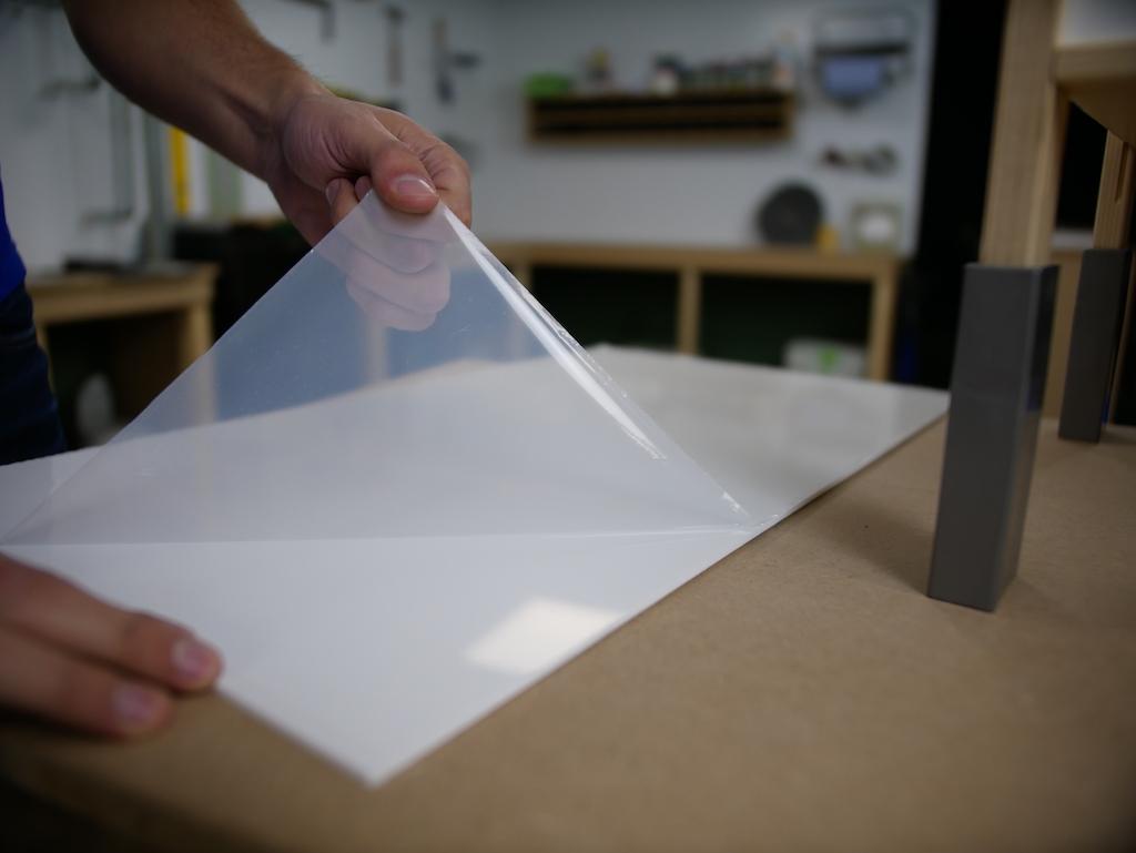 IKEA keuken plexiglas folie aan 1 kant verwijderen