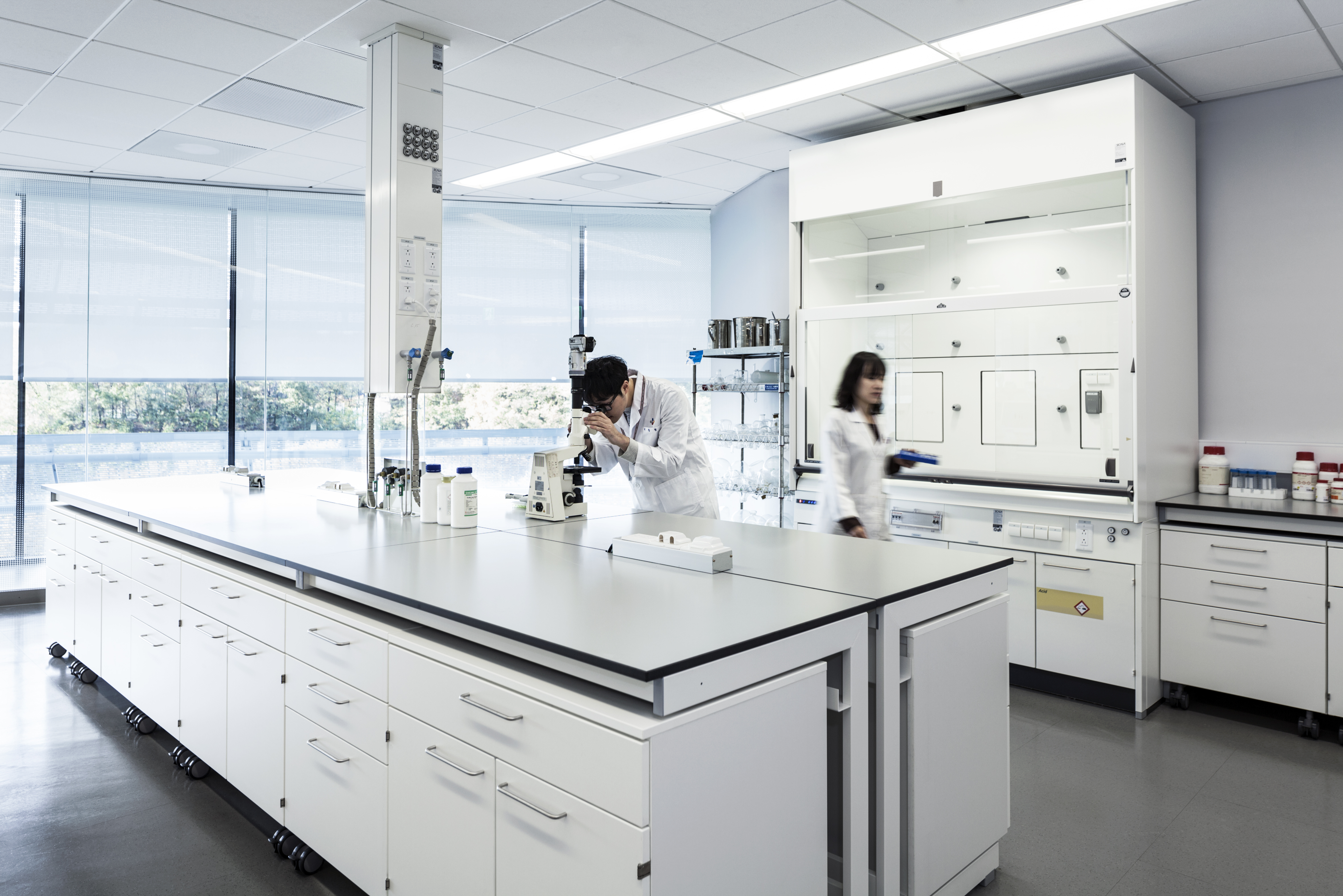 Trespa in laboratorium