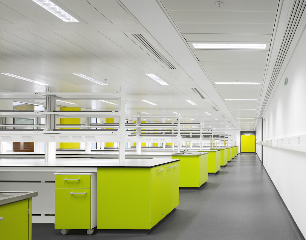Trespa toepassing in lab