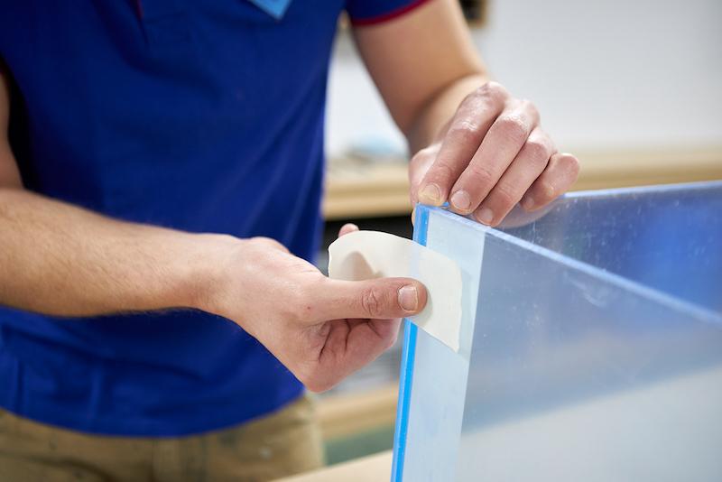 Aquarium maken fixeren met schilderstape