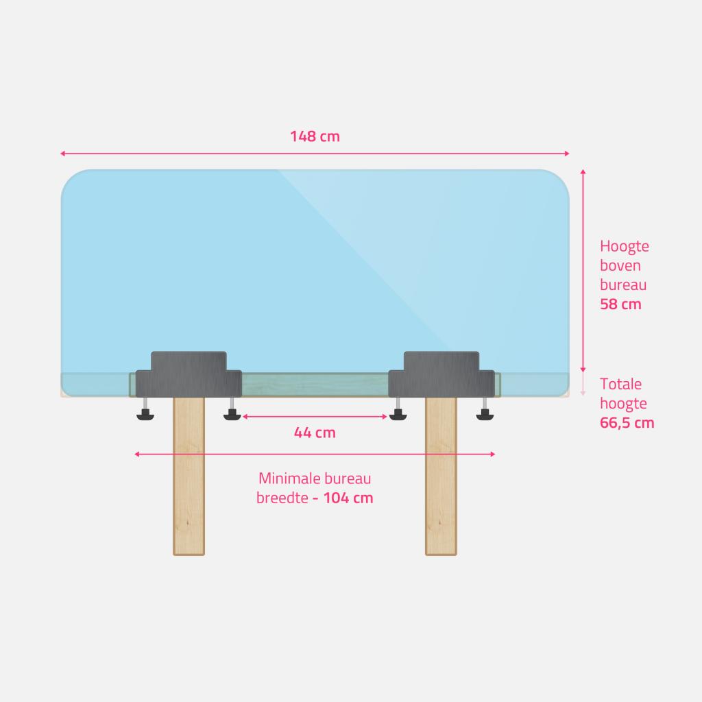 plexiglas bureauscherm