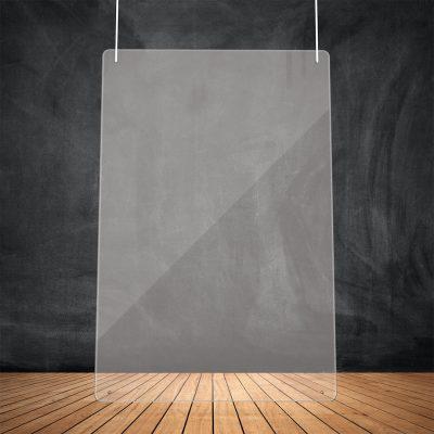 Doorzichtige afscherming hangend (100H x 75B cm)
