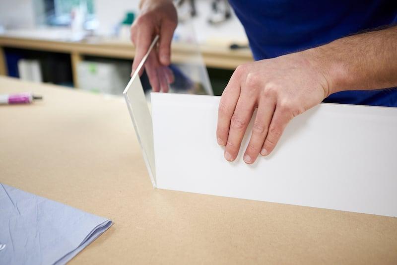 Kweekbak maken plexiglas verlijmen