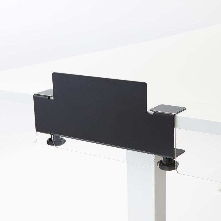 Beugel voor bevestiging plexiglas op bureau of tafel
