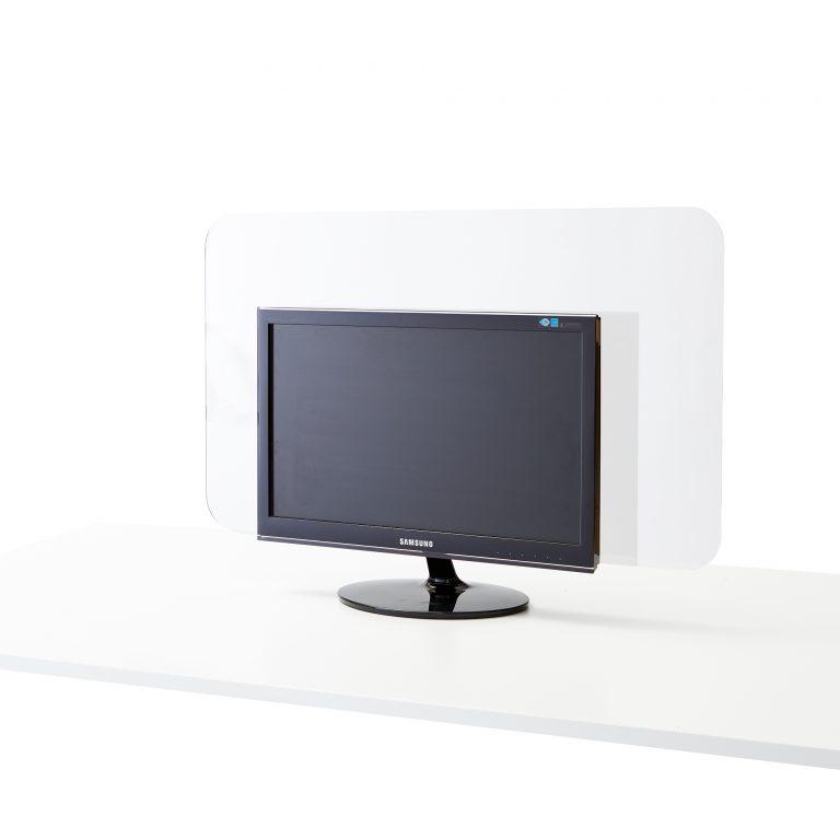 Plexiglas scherm voor monitor