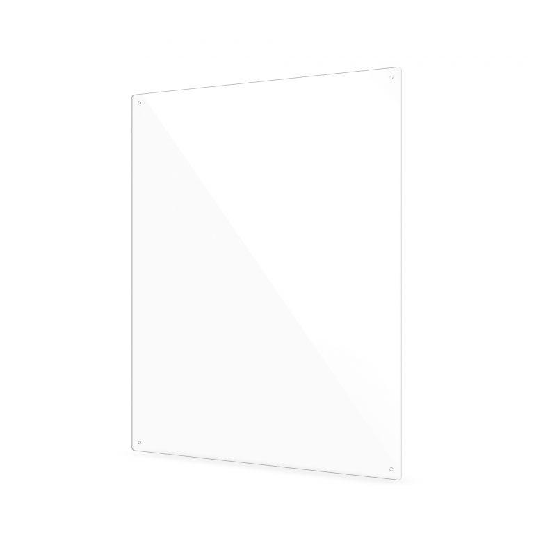 Klein plexiglas scherm met gaten
