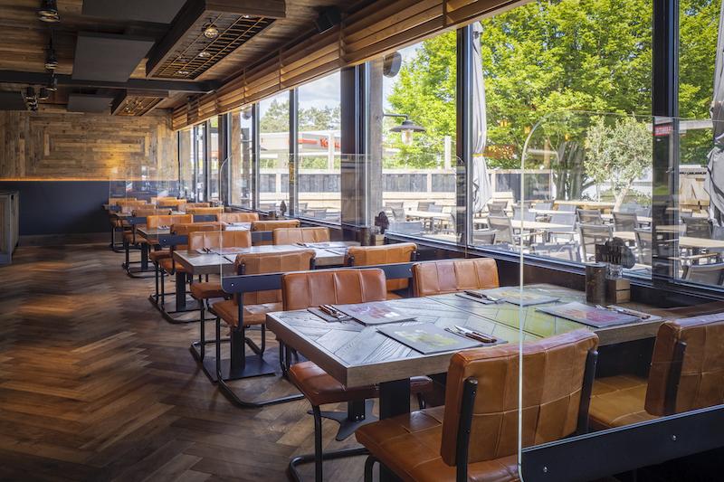 Plexiglas afscherming bedrijfsrestaurant
