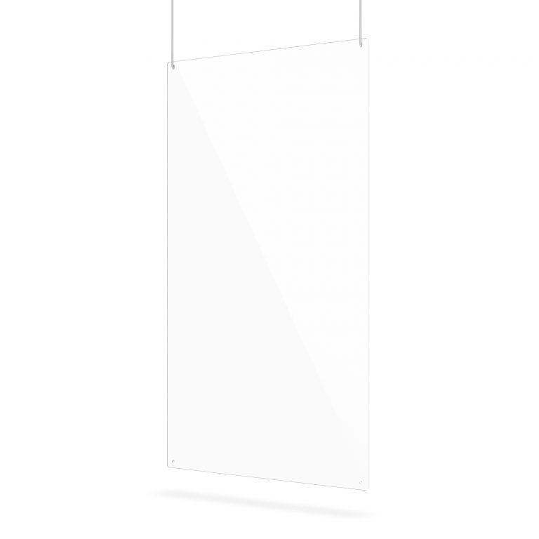Plexiglas scherm met ophanggaten
