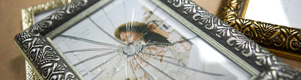 Fotolijstje glas gebroken glas