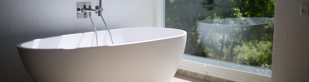 badkamer raam transparant glas