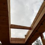 Plexiglas lichtstraat in plat dak