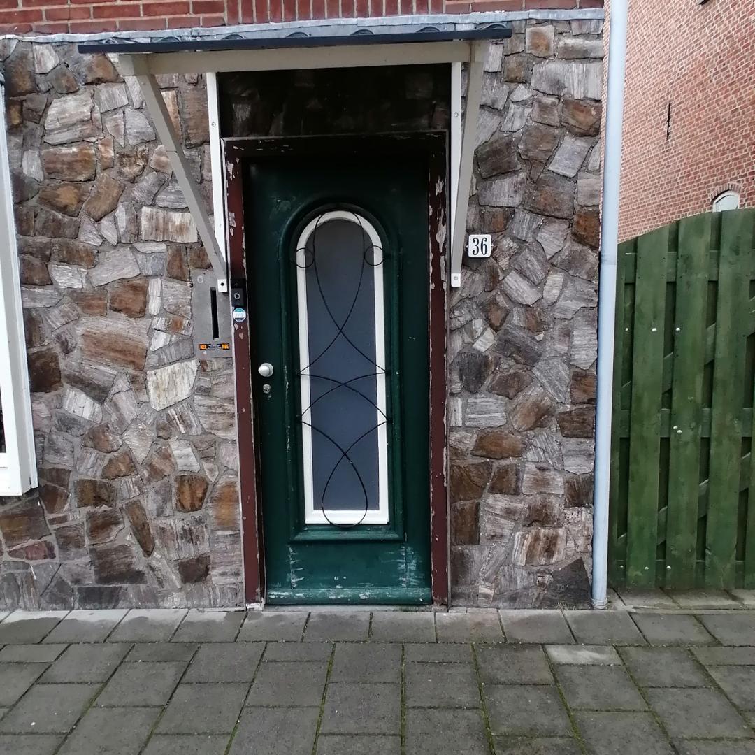 raam voordeur plexiglas eindresultaat vierkant
