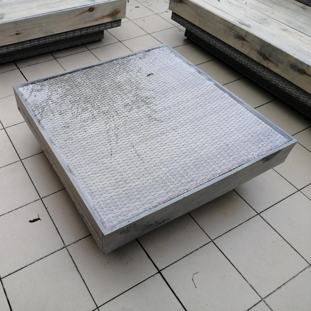 tafelblad plexiglas voor bijzettafel buiten