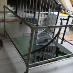 Trapgat balustrade plexiglas