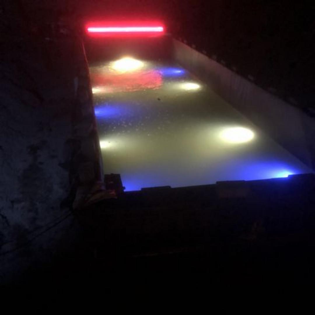 Waterval met ledverlichting plexiglas