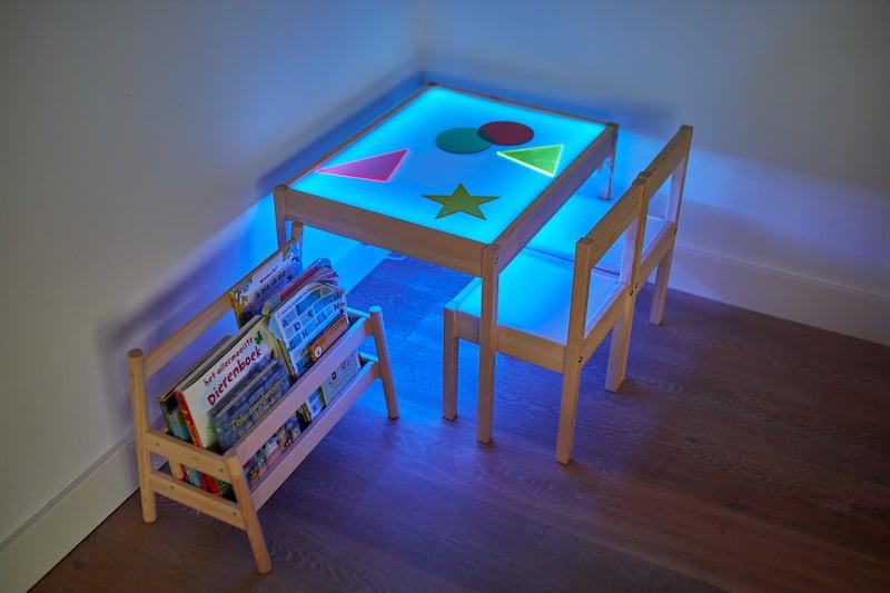 Lichttafel maken eindresultaat multiled blauw