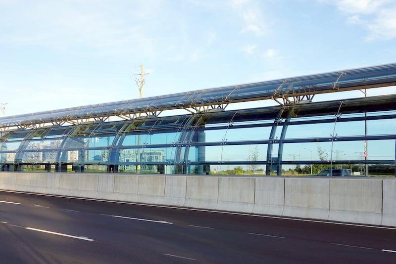 Polycarbonaat buigen windscherm bushalte