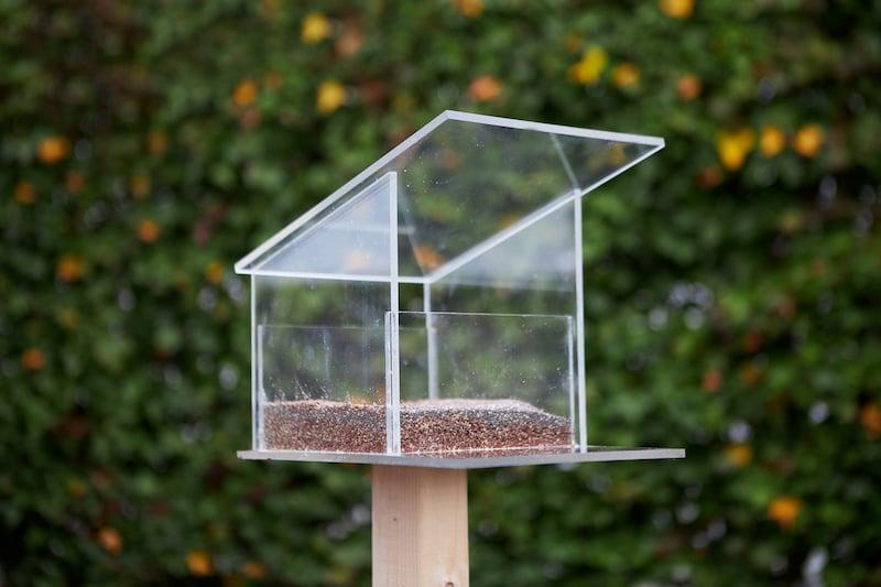 Vogelvoederhuisje maken eindresultaat