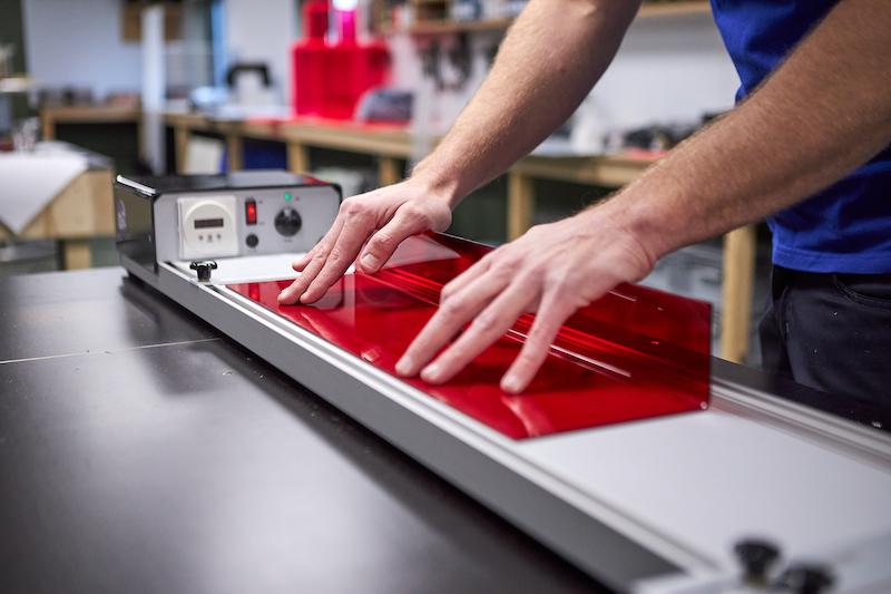 Fotoplank maken van plexiglas buigen