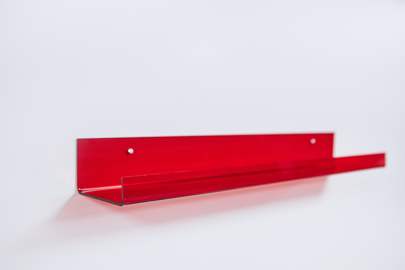 Fotoplank maken van plexiglas rood