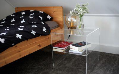 DIY transparant nachtkastje maken