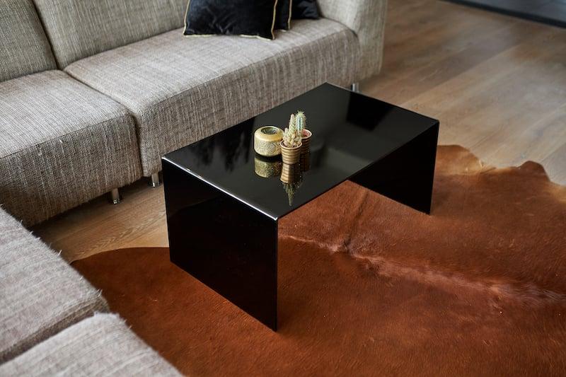 Zelf tafel maken zwart plexiglas