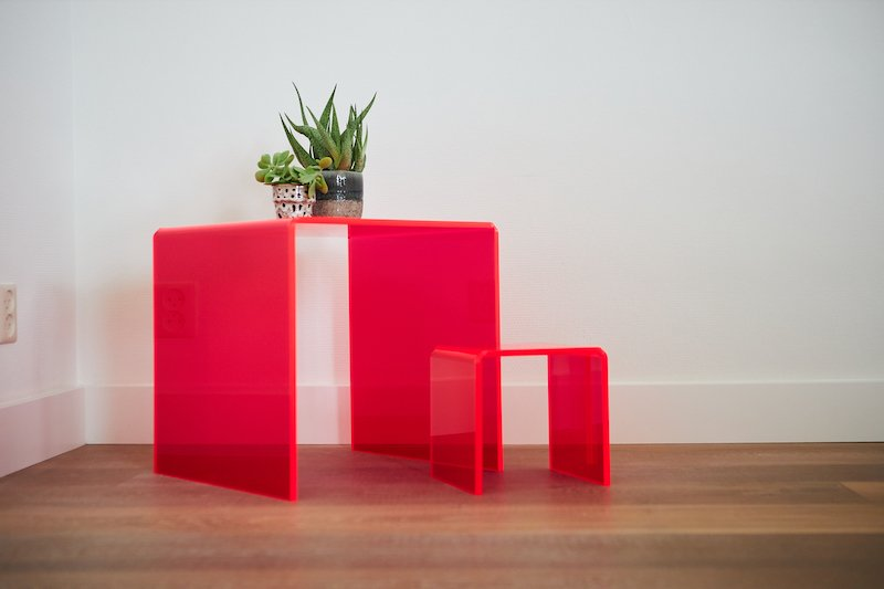 woondecoratie ideeën kunststof tafeltjes maken