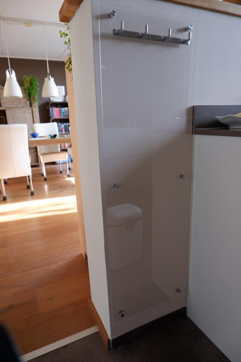 Handdoekenrek keuken zelf maken eindresultaat zonder handdoeken