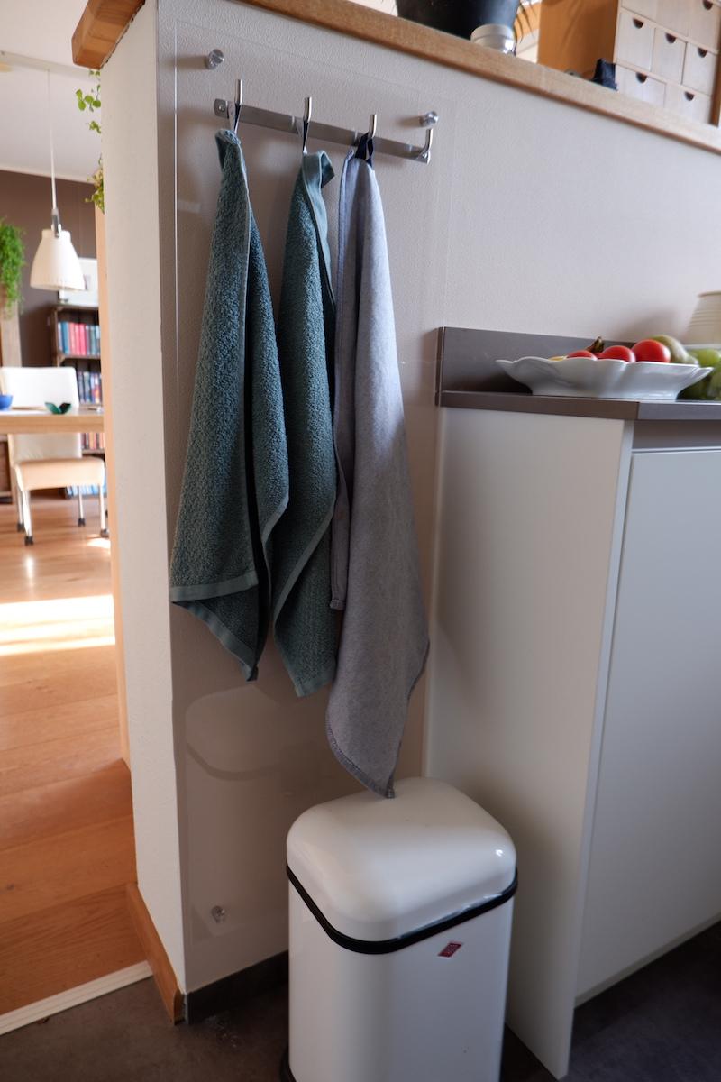 Handdoekenrek keuken zelf maken in keuken