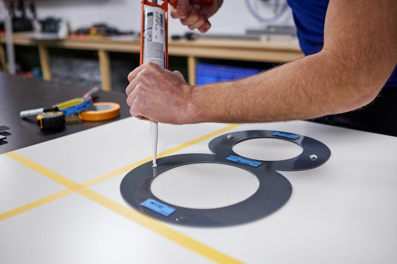 Huisnummers maken monteren met kit