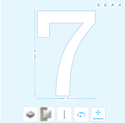 Huisnummers maken plaatconfigurator huisnummer 7
