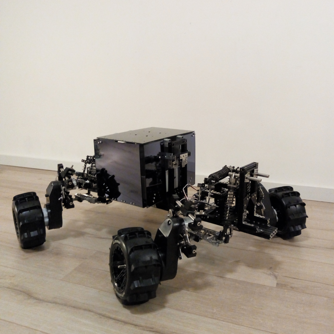 Robot auto met plexiglas batterij behuizing