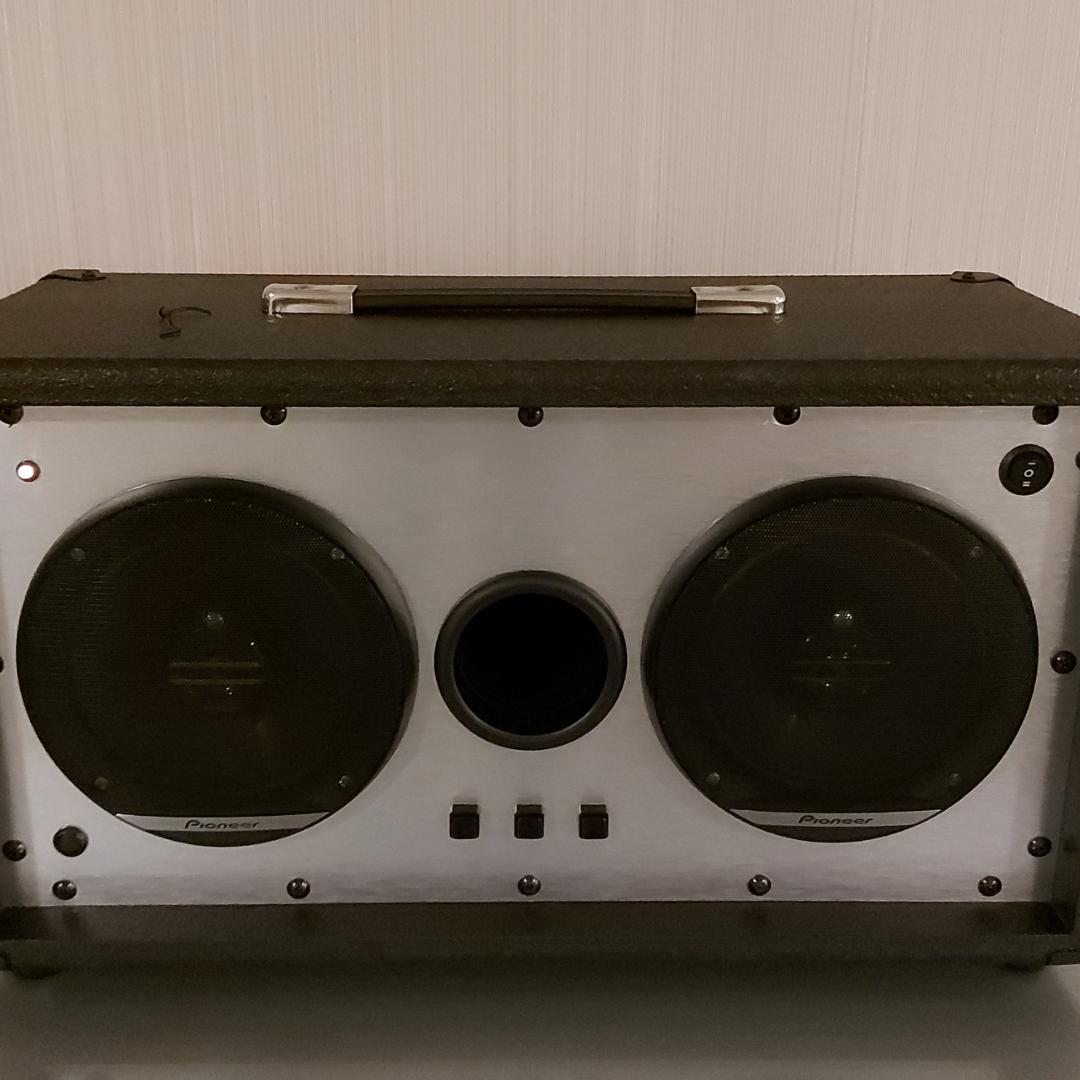 Retro bluetooth speaker voor