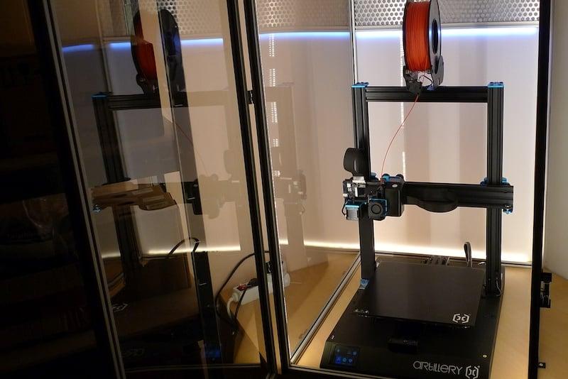 3d printer behuizing voorbeeld met helder plexiglas