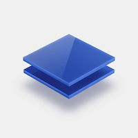 Assortiment plexiglas gekleurd