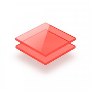 Plexiglas fluor rood