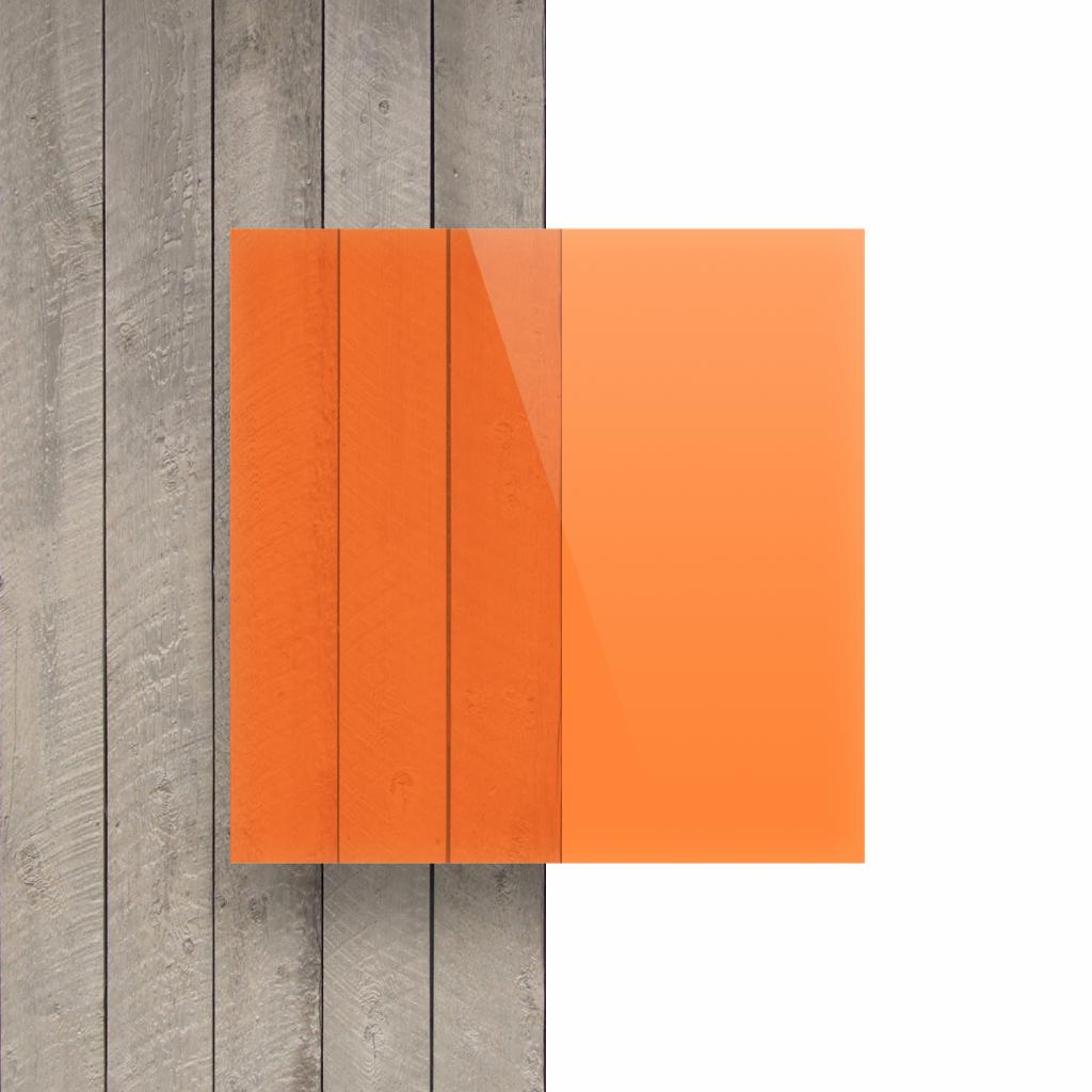 Voorkant plexiglas fluor oranje