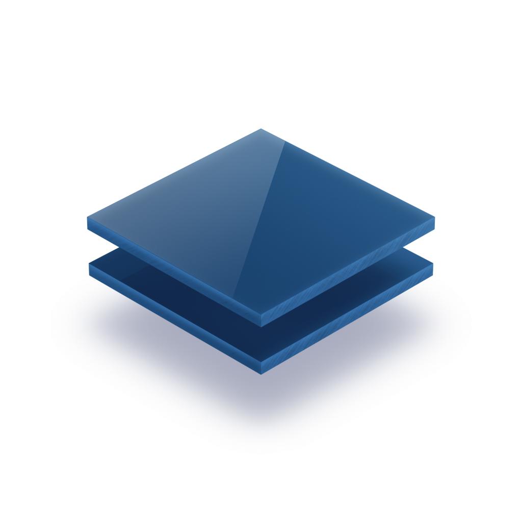 Letterplaat blauw 8mm